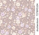 seamless floral pattern. cute...   Shutterstock .eps vector #727895104