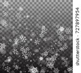 falling shining snowflakes and... | Shutterstock .eps vector #727897954
