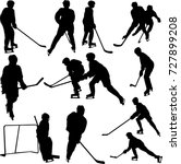 hockey player collection  ... | Shutterstock .eps vector #727899208
