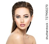 beauty face of the young... | Shutterstock . vector #727900270
