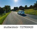 cars driving on the asphalt... | Shutterstock . vector #727900420