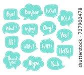 set of vector speech bubbles... | Shutterstock .eps vector #727902478