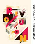 abstract style poster design... | Shutterstock .eps vector #727902556