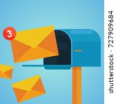 e mail marketing. mailbox and... | Shutterstock .eps vector #727909684