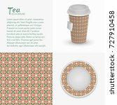 cardboard paper cup of tea ... | Shutterstock .eps vector #727910458
