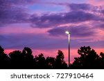 spotlight with beautiful sky on ... | Shutterstock . vector #727910464