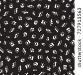 seamless primitive jumble... | Shutterstock .eps vector #727913563