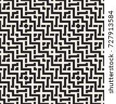 interlacing lines maze lattice. ... | Shutterstock .eps vector #727913584