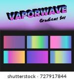 retrowave  vaporwave... | Shutterstock .eps vector #727917844