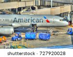 hdr image  american airlines...   Shutterstock . vector #727920028