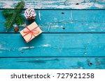 christmas decoration.... | Shutterstock . vector #727921258