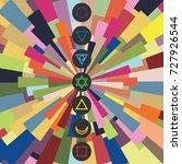 vector illustration of seven... | Shutterstock .eps vector #727926544