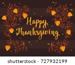 thanksgiving card with cape... | Shutterstock .eps vector #727932199