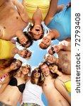below view of circle of friends ... | Shutterstock . vector #72793408