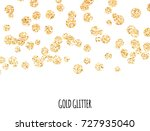 gold glitter border. golden... | Shutterstock .eps vector #727935040