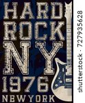 rock poster  vintage rock and... | Shutterstock .eps vector #727935628