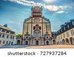 famous st. matthias' abbey or... | Shutterstock . vector #727937284