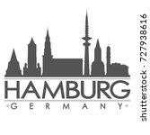 hamburg skyline silhouette... | Shutterstock .eps vector #727938616