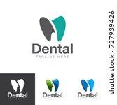 dental logo | Shutterstock .eps vector #727939426