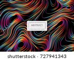 abstract background with curled ... | Shutterstock .eps vector #727941343