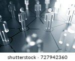social network concept... | Shutterstock . vector #727942360