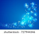 colorful music notes. vector... | Shutterstock .eps vector #727944346