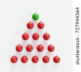 outstanding green christmas... | Shutterstock . vector #727944364