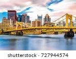 rachel carson bridge  aka ninth ... | Shutterstock . vector #727944574