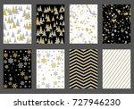 winter background snow pattern  ...   Shutterstock .eps vector #727946230