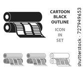 newspaper printing machine in... | Shutterstock .eps vector #727949653