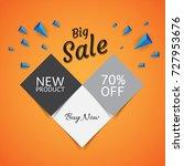 big sale 3d design template.... | Shutterstock .eps vector #727953676