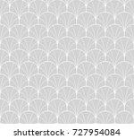 vector floral art nouveau... | Shutterstock .eps vector #727954084