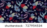 seamless floral pattern in... | Shutterstock .eps vector #727954534