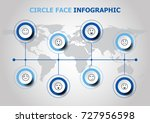 infographic design with circle... | Shutterstock .eps vector #727956598