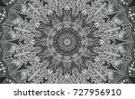 black and white of mandala.... | Shutterstock .eps vector #727956910