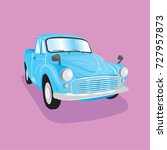 graphic  ancient car classic... | Shutterstock .eps vector #727957873