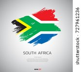 flag of south africa with ... | Shutterstock .eps vector #727961236