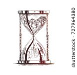hourglass ecology concept... | Shutterstock .eps vector #727964380