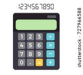 calculator | Shutterstock .eps vector #727966588