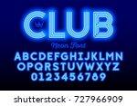neon style modern font ... | Shutterstock .eps vector #727966909