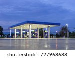 gas station at twilight ... | Shutterstock . vector #727968688