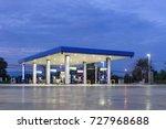 gas station at twilight ... | Shutterstock . vector #727968688