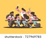 group of happy friends guys... | Shutterstock .eps vector #727969783
