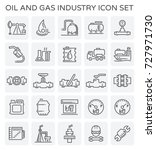 vector line icon of oil and gas ... | Shutterstock .eps vector #727971730