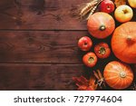 thanksgiving background ... | Shutterstock . vector #727974604