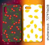 phone cover design with sweet... | Shutterstock .eps vector #727976638