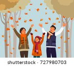 happy family having fun and... | Shutterstock .eps vector #727980703