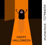 happy halloween. screaming... | Shutterstock .eps vector #727984054