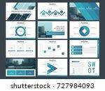 blue abstract presentation... | Shutterstock .eps vector #727984093
