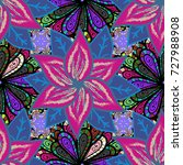 abstract ethnic vector seamless ... | Shutterstock .eps vector #727988908